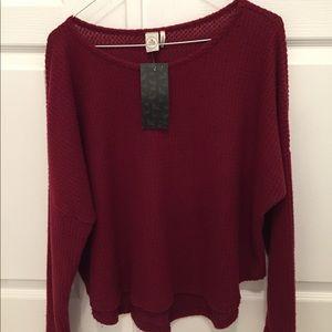 [NEW] Soft waffle knit top - Paper Crane - M